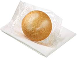 Round Dinner Roll White -  Individually Wrapped
