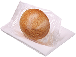 Round Dinner Roll Brown -  Individually Wrapped